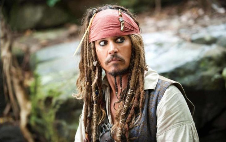 Johnny depp en su papel de Jack Sparrow