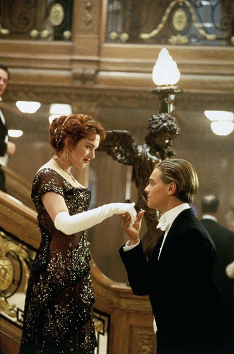 Escena de la película Titanic en la que participan Kate Winslet y Leonardo DiCaprio