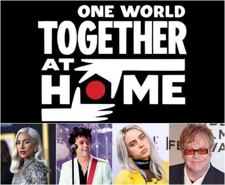 Poster oficial de One World Together at home concierto de Lady Gaga y la OMS
