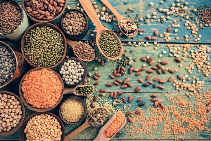 legumbres de diferentes tipos