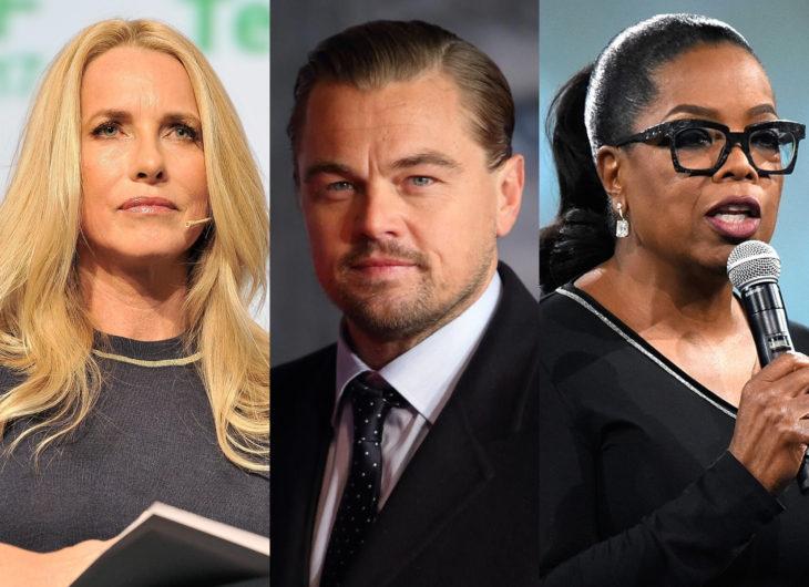 Leonardo DiCaprio, Laurene Powell Jobs y Oprah Winfrey
