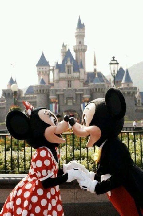 Minnie y Mickey Mouse