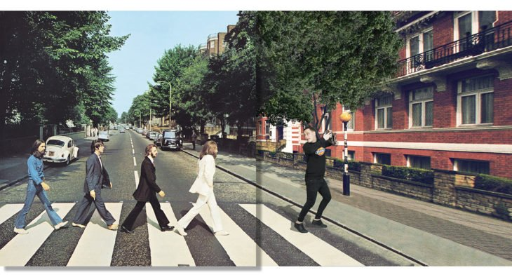 "Portada editada del disco ""Abbey Road"" de The Beatles"