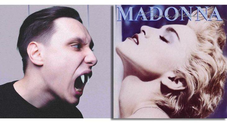 """Portada editada del disco """"True Blue"""" de Madonna"""
