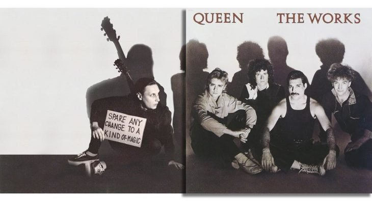 "Portada editada del disco ""The Works"" de Queen"