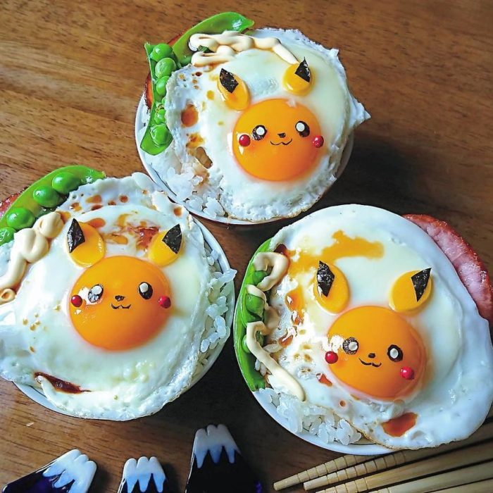 Kawaii breakfasts of your favorite character made with egg