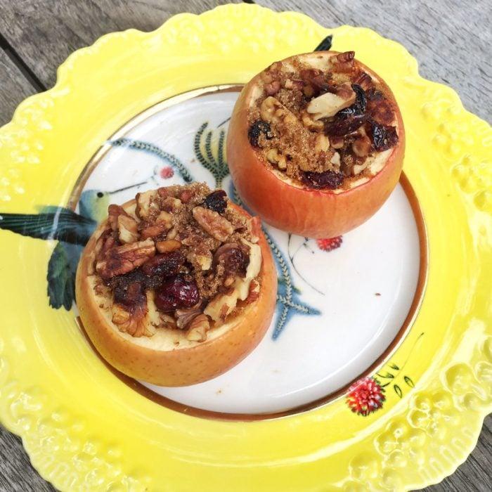 Manzanas rellenas horneadas