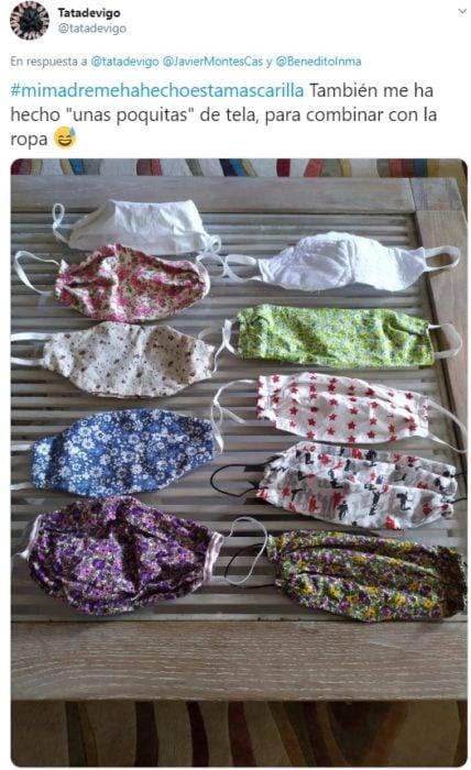 Mascarillas de tela de diferentes diseños