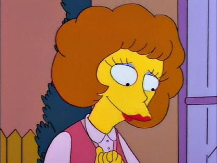 Maude Flanders, esposa de el señor Flanders de Los Simpson