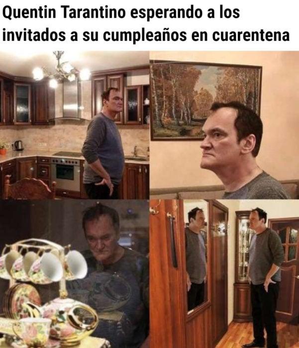 Memes de coronavirus para quienes cumplen años en cuarentena; Quentin Tarantino solo