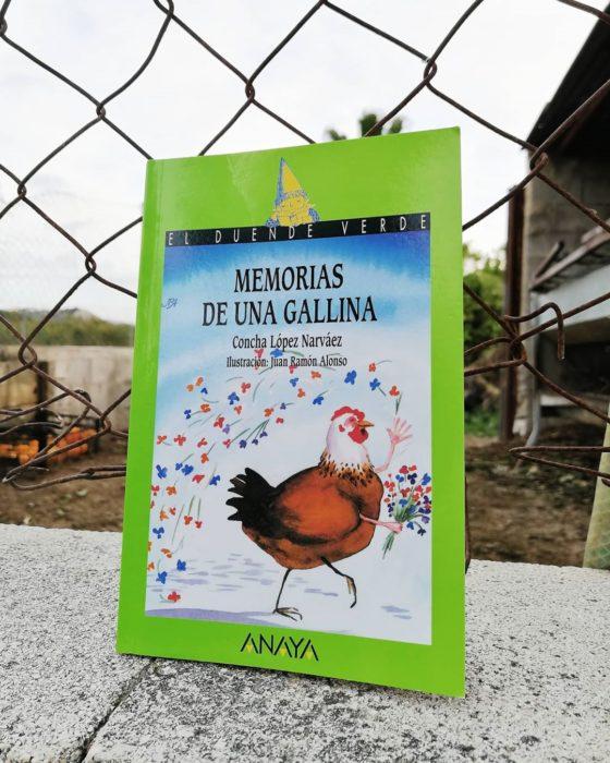 Portada del libro infantil Memorias de una gallina