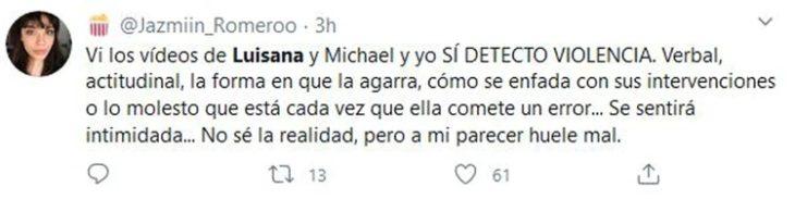 Tuit sobre Michael Bublé agrediendo a su esposa