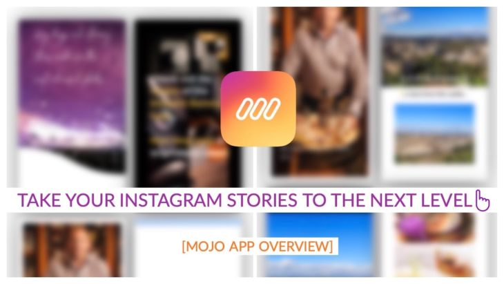 Mojo application for editing stories on Instagram