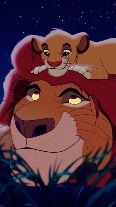 Mufasa con Simba del Rey león