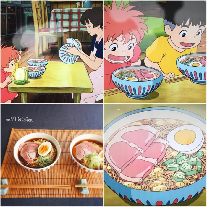 Recreación de comida de películas de Studio Ghibli, noddles