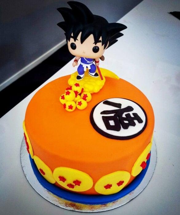Pastel infantil de Dragon Ball, Gokú para el Día del Niño