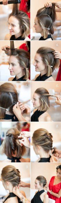 Tutorial de peinado para cabello corto estilo moja
