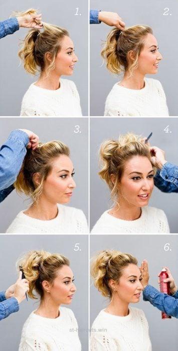 Tutorial de peinado para cabello corto con trenzas y chongos