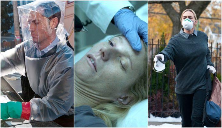 Escenas de la película Contagio con Jude Law y Emily Blunt