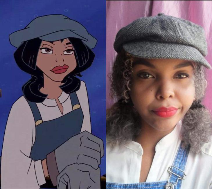 Disney princess challenge; chica disfrazada de Audrey Rocio Ramírez de Atlantis, el imperio perdido