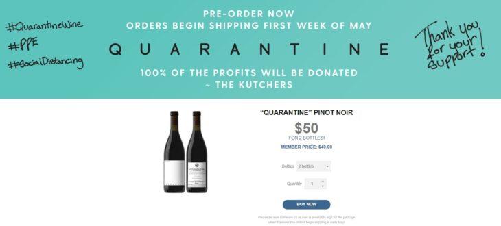 Página oficial de quarantine wine