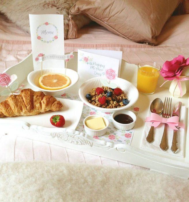 Desayuno que puedes preparar para el día de la madre