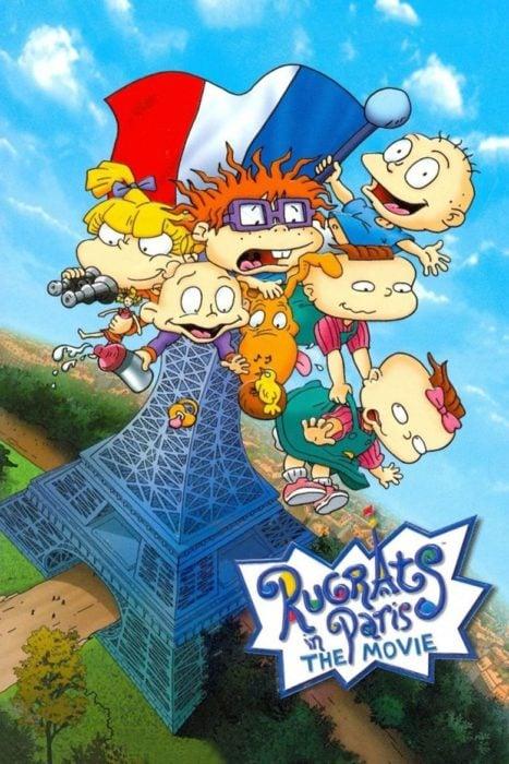 Poster de portada de la película de los Rugrats en Paris