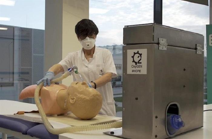 Creación de respiradores en la planta de Martorell de SEAT