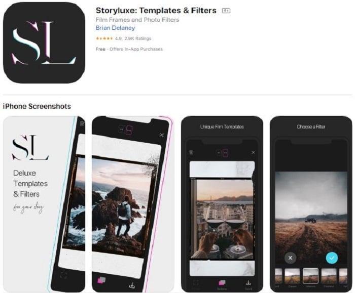 Story Luxe aplicación para edición de stories en Instagram