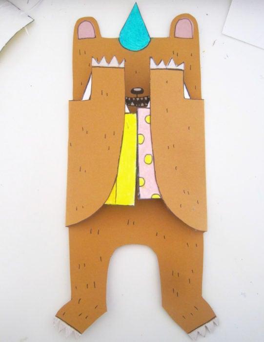 Tarjetas de felicitación infantiles para el Día del Niño; oso