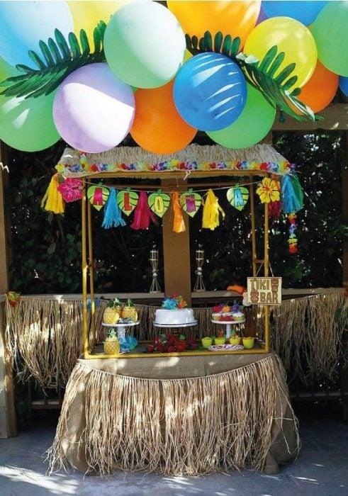 Temática de fiesta infantil hawaii