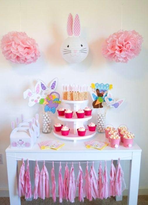 Temática de fiesta infantil conejos