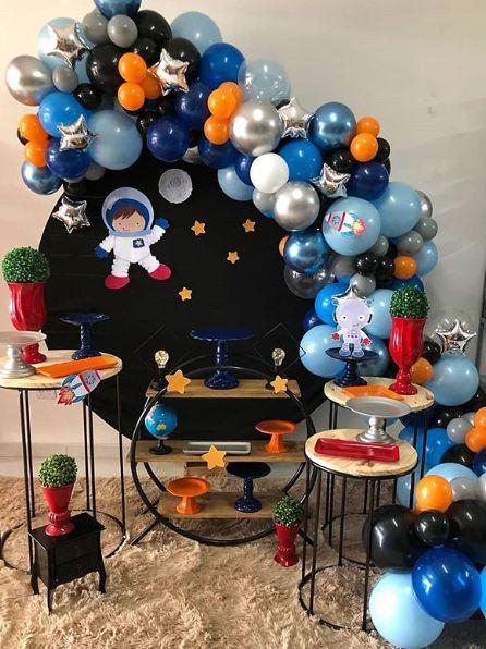 Temática de fiesta infantil astronauta