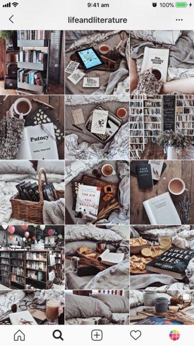 Tema de Instagram sobre libros