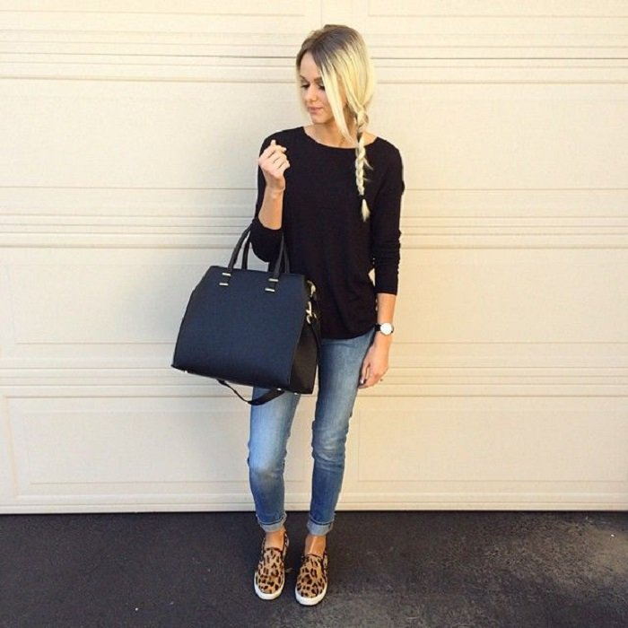 Outfit con tenis animal print