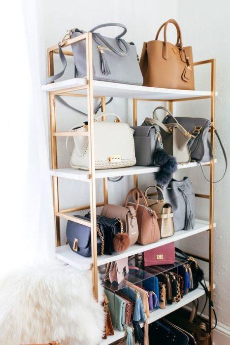 Organizador minimalista de bolsos