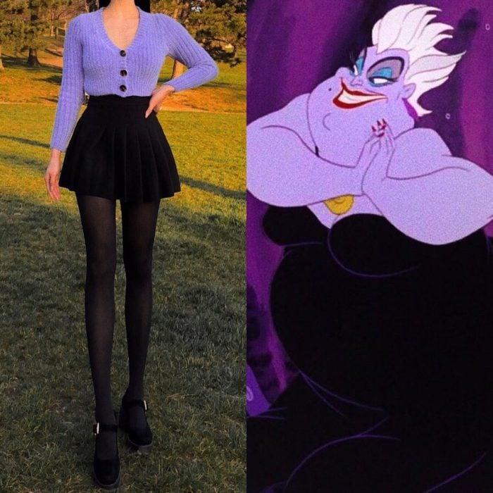 Recreación de outfit del personaje de Ursula