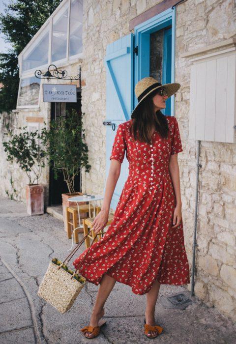 Vestido primaveral rojo