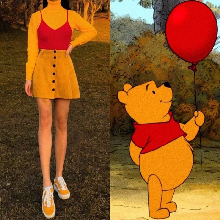 Recreación de outfit del personaje de Winnie the Pooh