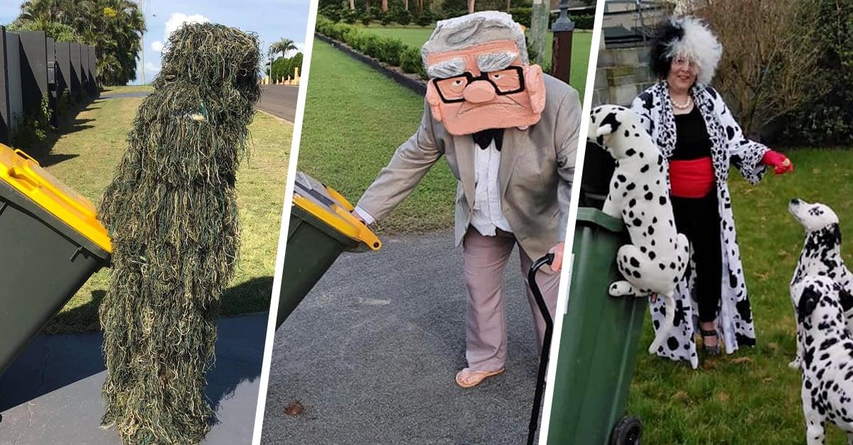 Los australianos se están disfrazando para sacar la basura