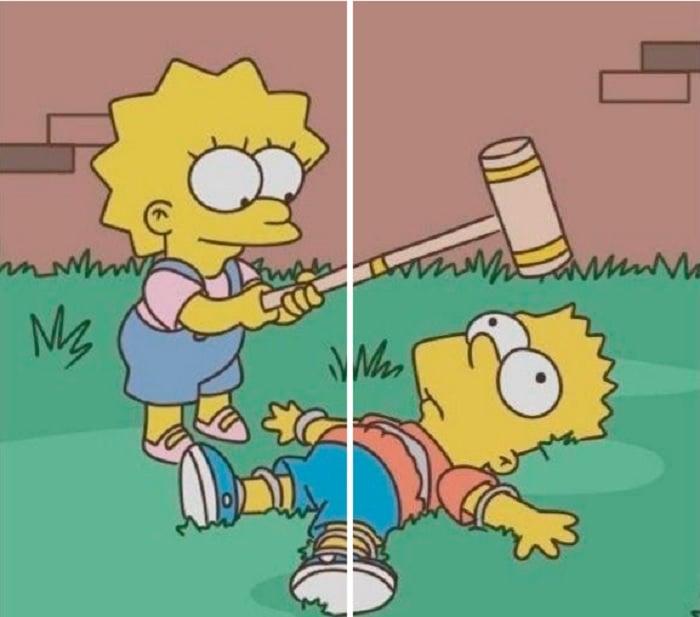 Fondo de pantalla en pareja de Bart y Lisa