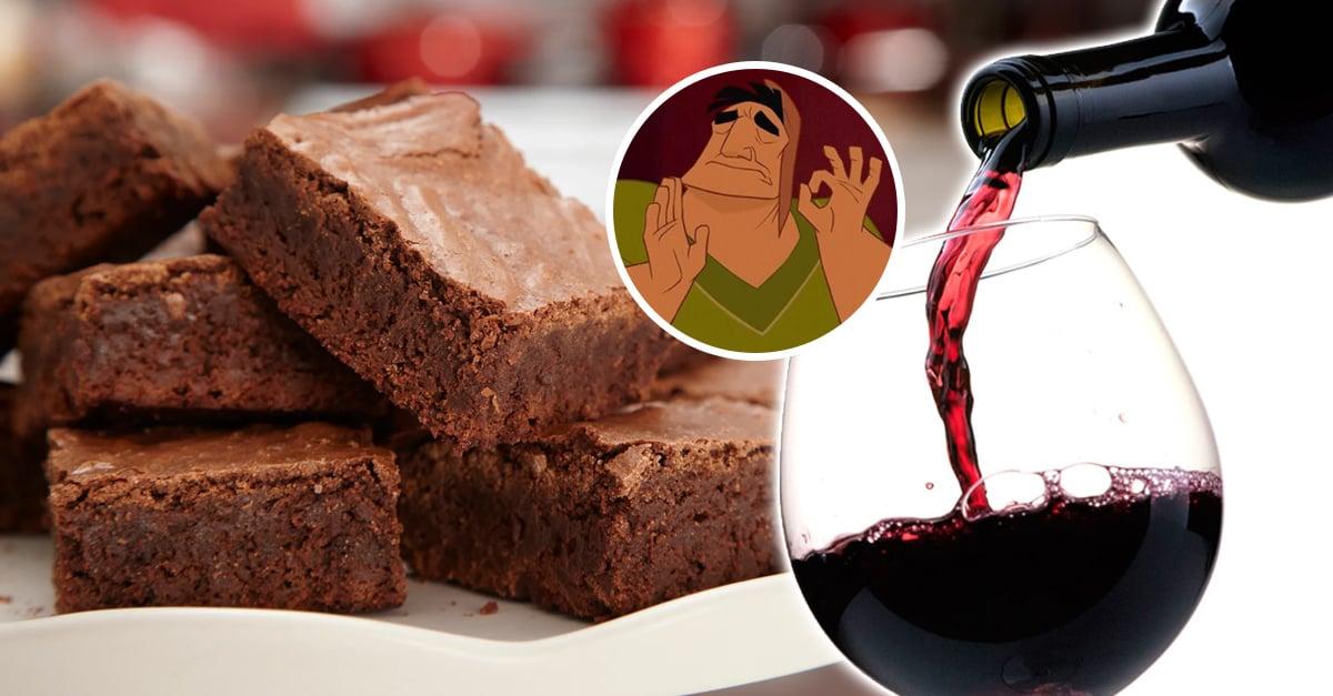Estos brownies con vino tinto son lo más rico y fácil del mundo