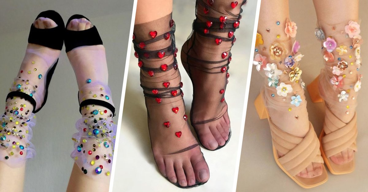 Las medias decoradas son el complemento ideal para chicas las atrevidas