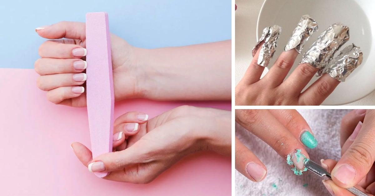Así es como puedes retirar en casa las uñas de gel