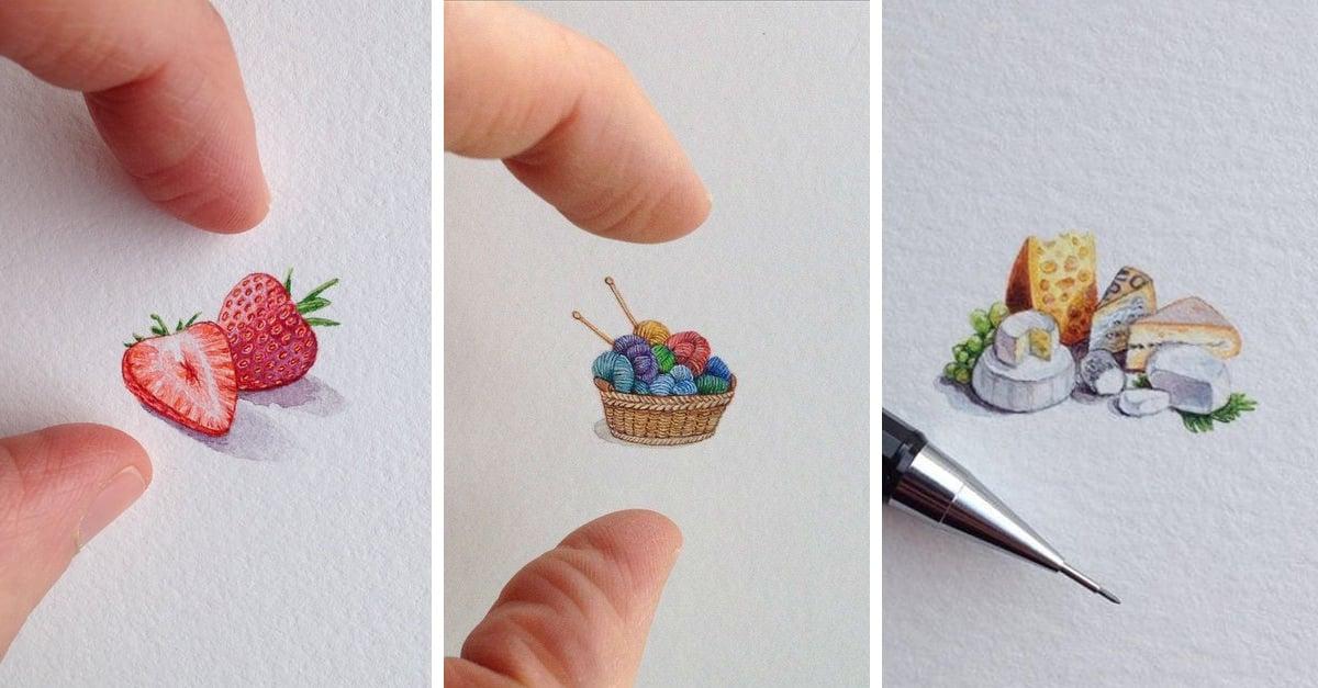 Las miniaturas de Brooke Rothshank son casi realistas y maravillosas