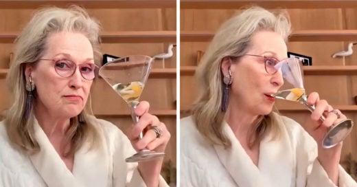 Meryl Streep bebe y canta con sus amigas por videollamada y nos da mucha envidia