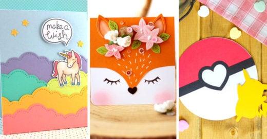17 Creativas y sencillas tarjetas para regalar el Día del Niño