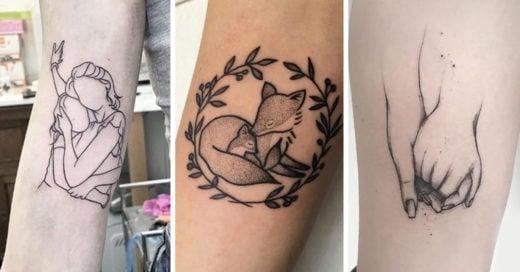 15 Tatuajes perfectos para compartir con mamá