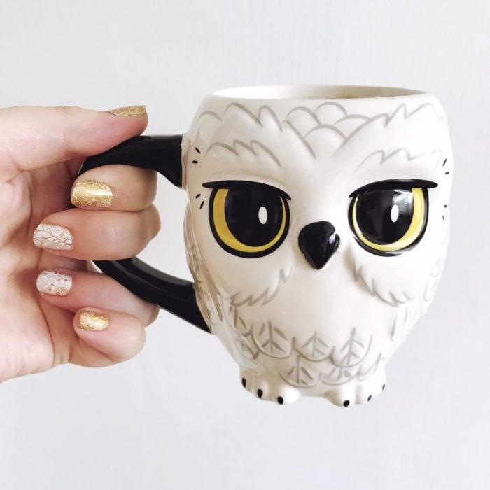 Taza en forma de la lechuza Hedwig