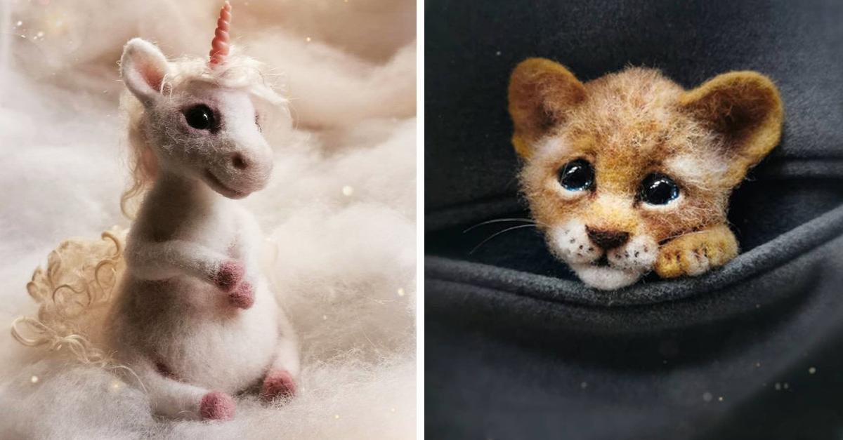 Artista rusa crea adorables miniaturas de fieltro y enamora a internet